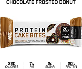 Optimum Nutrition Optimum Nutrition Protein Cake Bites/Whipped Protein Bars, Chocolate Frosted Donut, 9 Count