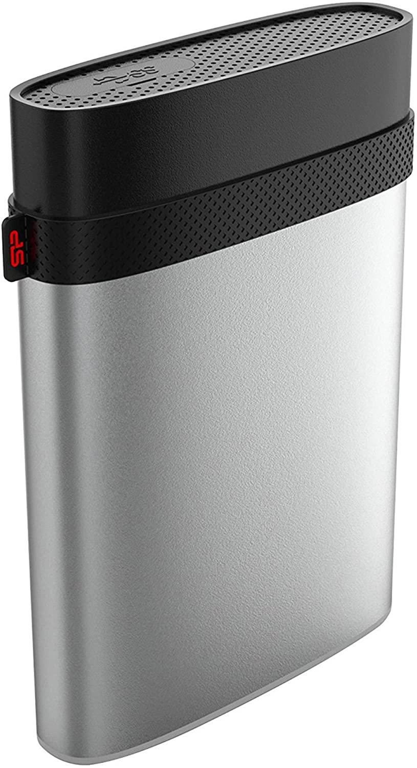 SP020TBPHDA85S3SAZ Silver Silicon Power 2TB PS4 Xbox Compatible Type C USB 3.0 Rugged Armor A85 Military Grade IP68 Shockproof // Waterproof External Portable Hard Drive for PC and Mac 2.5
