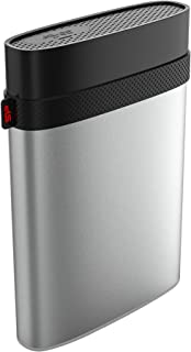 Silicon Power Armor A85 IP68 Shockproof 4TB Waterproof USB-C USB 3.0 2.5-Inch Military Grade Portable External Hard Drive for PC, Mac, Xbox One and Xbox 360 - Silver