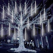 LED meteorenregen regenlichten, 80cm 8 buizen Sneeuwval Fairy Lights Ijspegel Verlichting, Kerst Outdoor Indoor Decoratie ...