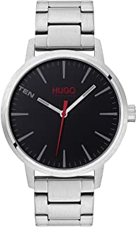 Hugo Boss Men'S Black Dial Stainless Steel Watch - 1530140