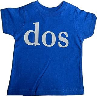 Custom Kingdom Baby Boys'Dos Second Birthday T-Shirt Blue