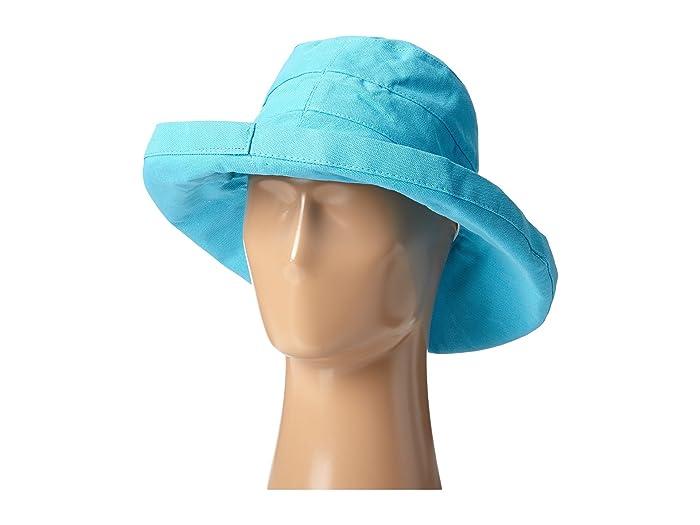 SCALA  Big Brim Cotton Sun Hat (Turquoise) Caps