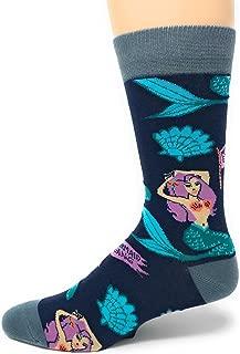 Mens Novelty Funny Crew Socks Mermaid Gang