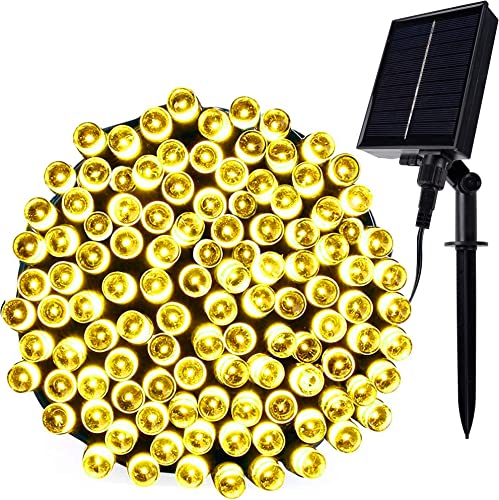 lowest Twinkle Star Solar String Lights, 98FT 300 LED 8 Modes Solar Powered Starry Fairy Light Waterproof, Outdoor / Indoor Commercial Decor for Garden popular Backyard Patio Yard Holiday Party Wedding, discount Warm White online sale
