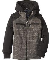 Taylor Knit Melange w/ Fleece Sleeves & Hoodie (Little Kids/Big Kids)