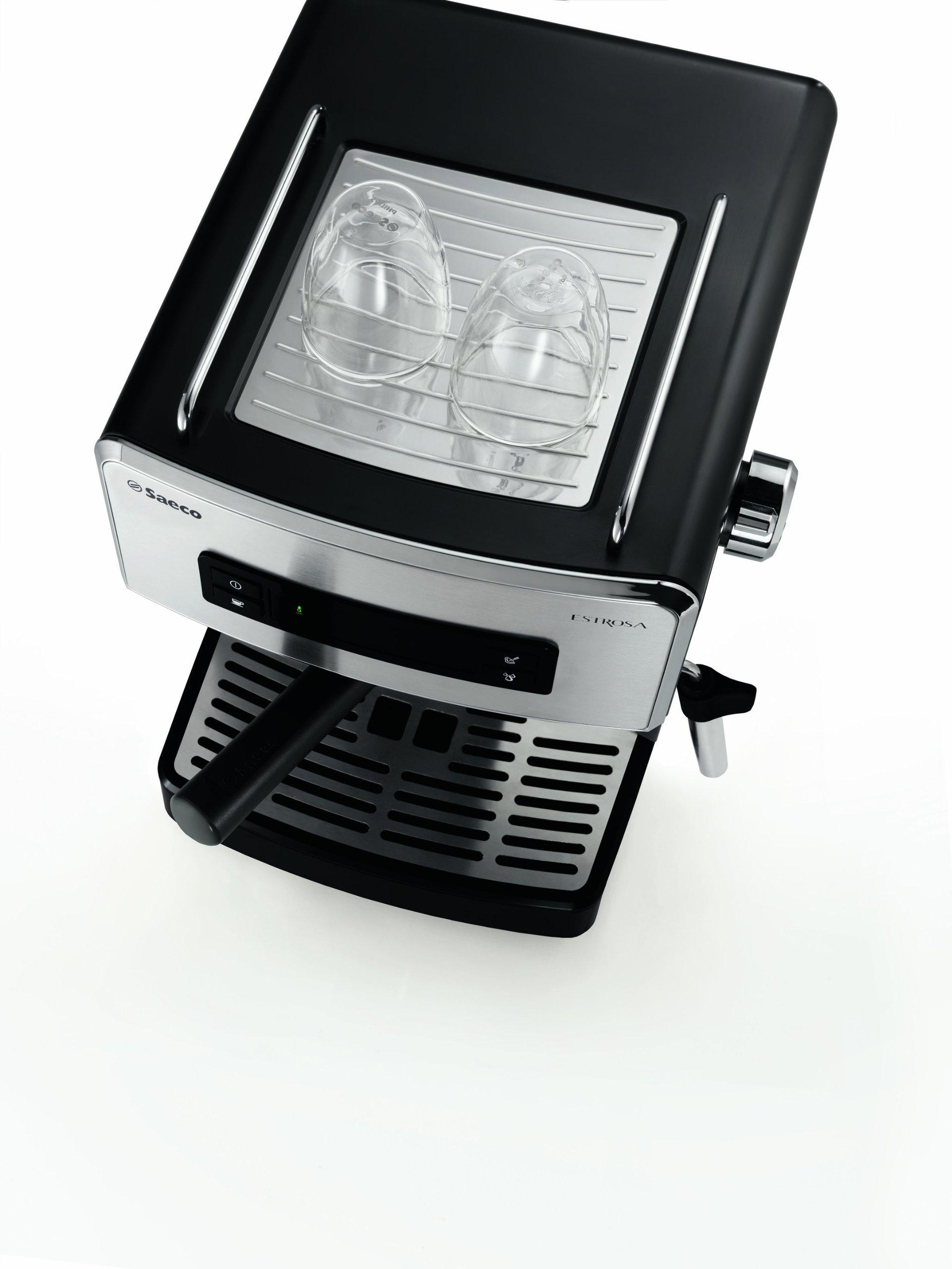 Saeco Estrosa HD8525/01 - Máquina de café espresso manual para café molido y monodosis E.S.E, color negro: Amazon.es: Hogar