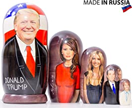 "Nesting Doll -""Trump and The First Family"" (6,75`` (5 dolls in1), Matte Finish)"