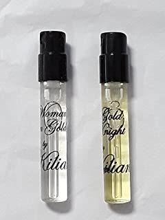 (2) Travel Size Kilian Eau de Parfum Samples - Woman in Gold + Gold Knight - 1.5 ml Each