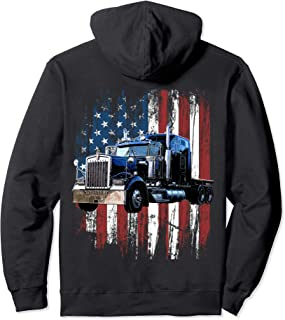 Trucker American Flag Truck Driver Hoodie Truck Driver Gift