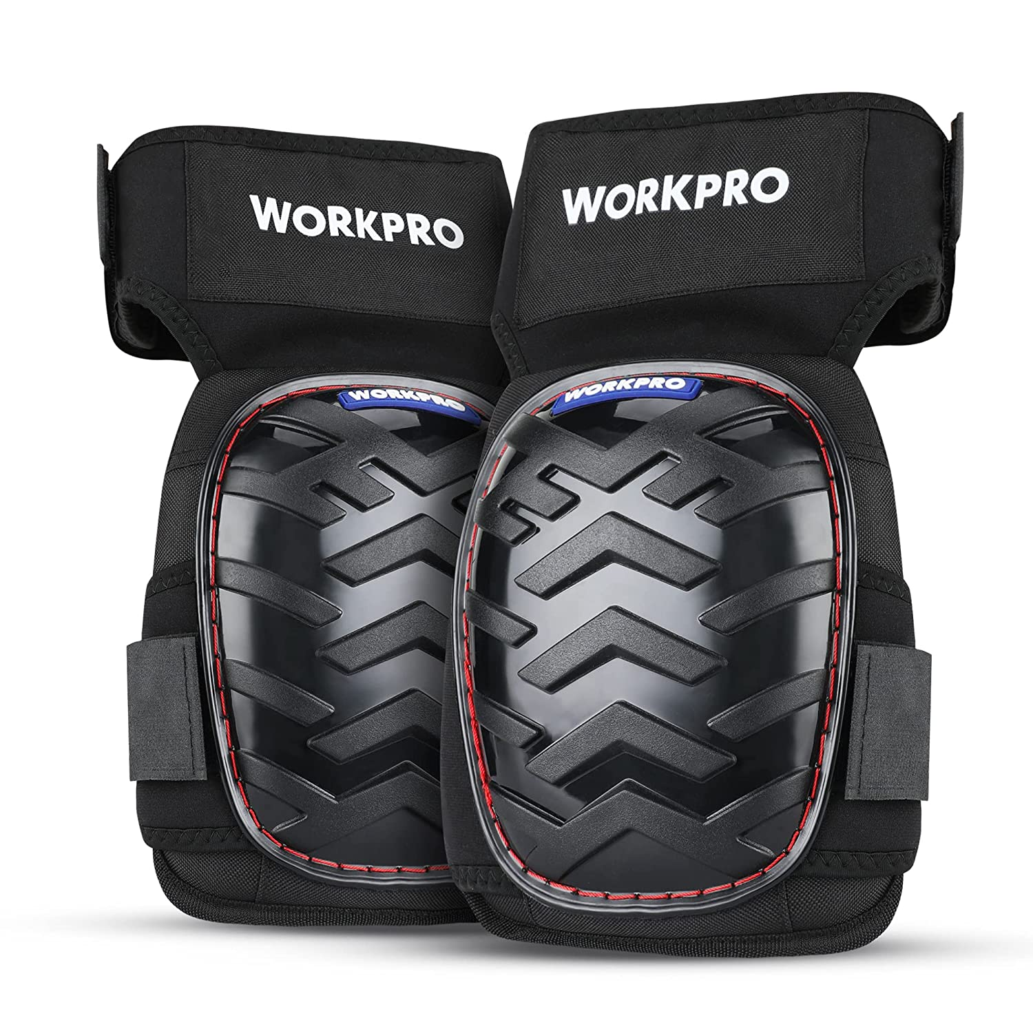 WORKPRO Gel Knee Pads with Anti-Slip Straps, Professional Kneepads for Work,Construction and Garden, Ergonomic Foam Cushion for Men and Women Safe Knees