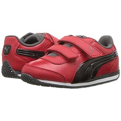 Puma Kids Speed Lightup Power V (Toddler) (Ribbon Red/Puma Black/Iron Gate) Boys Shoes