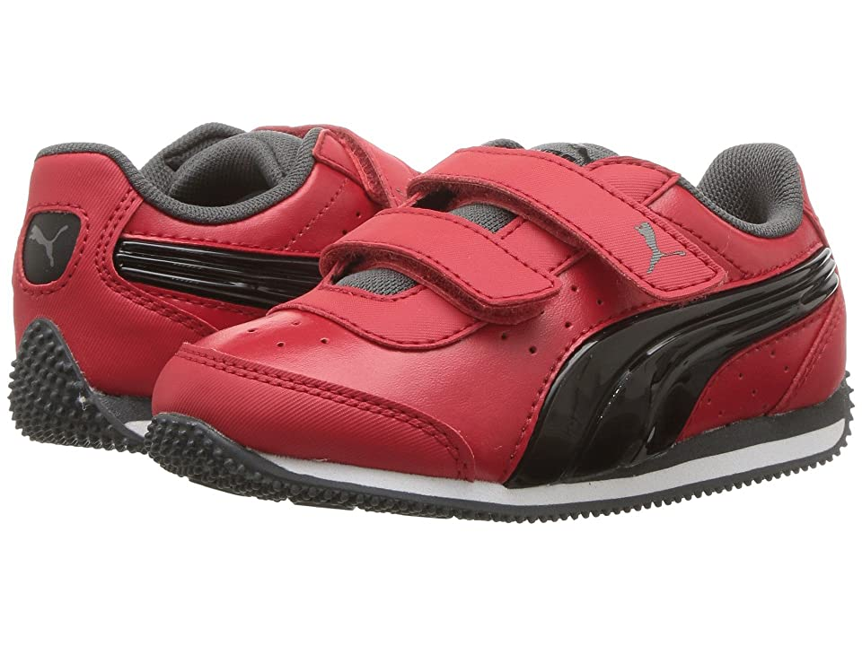 Puma Kids Speed Lightup Power V (Toddler) (Ribbon Red/Puma Black/Iron Gate) Boys Shoes