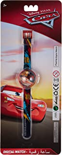 Disney Cars Boys Floating Digital Dial with Floating Glitters Wristwatch - SA7101 Cars