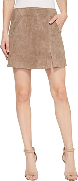 Suede Skirt in Sand Stoner