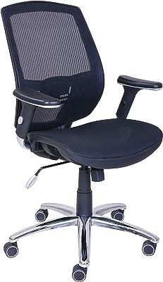 Amazon Brand - Movian Office Chair, Mid Back, Mesh, Adjustable Height, 64.1 x 41.3 x 98.4 cm (L x W x H), Black