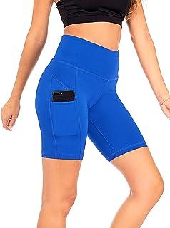 DEAR SPARKLE High Waist Yoga Shorts Workout 3 Pockets Tummy Control Running Short Plus (S4)
