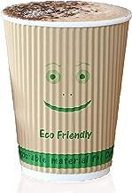 أكواب قهوة قابلة للاستخدام مرة واحدة - 500 كوب ساخن قابل للتحلل البيولوجي مع رقاقة PLA صنعت في الولايات المتحدة الأمريكية ...