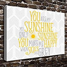 Best you are my sunshine wall canvas Reviews