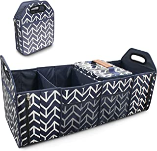 Trunk Organizer, Cargo Storage Bag with Foldable Portable Insulation Cooler Bag Collapsible Vehicle Organizer Divider Stor...