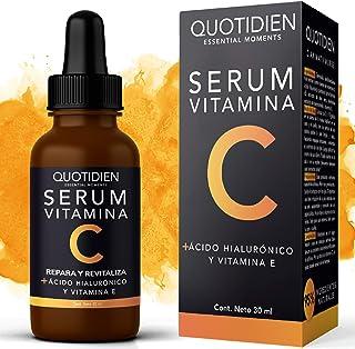 Serum Vitamina C + Ácido Hialurónico + Vitamina E- Serum Facial -95% Ingredientes Naturales- Aclara, Revitaliza, Restablec...