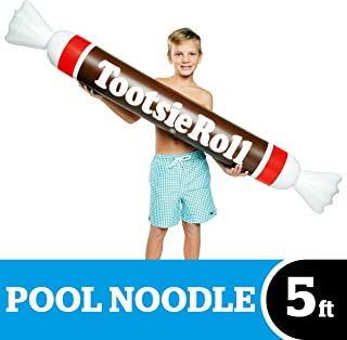 BigMouth Inc Tootsie Roll Noodle Pool Float, Funny Inflatable Vinyl Summer Pool or Beach Toy, Patch Kit Included