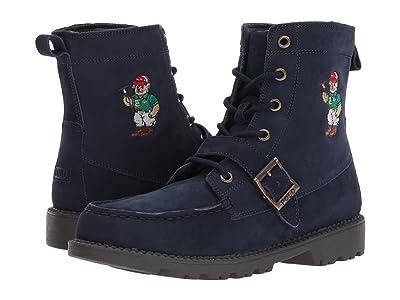 Polo Ralph Lauren Kids Ranger Hi II (Big Kid) (Navy Nubuck/Polo Sweater Bear) Boys Shoes