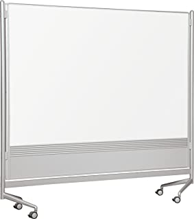 Best-Rite DOC Mobile Whitebooard Room Partition and Display Panel, Double Sided Dura-Rite Markerboard, 6 x 6 Feet (661AG-HH)