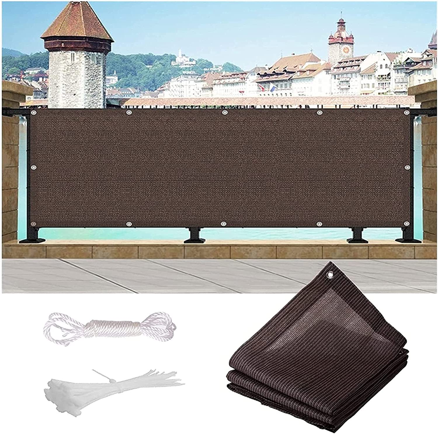 SDWJJ Balcony Max 63% OFF We OFFer at cheap prices Privacy Screen Wind Protection Stadium Ultraviolet