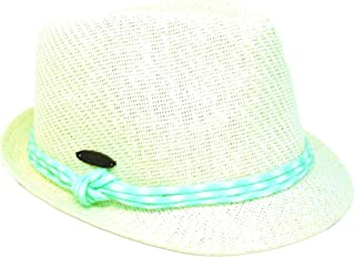 "Panama Jack Women's Fedora Hat - Lightweight Matte Toyo Straw, 1 1/2"" Structured Brim, Colorful Braided Hat Band"