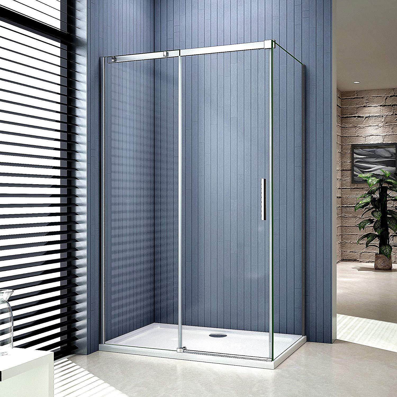 Cabina de ducha para esquina de entrada, mampara de ducha: Amazon ...