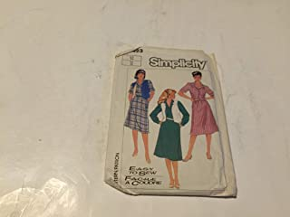 Misses Easy to SEW Pullover Sundress and Reversible Vest Pattern Set
