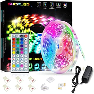 SHOPLED LED Strips Lights 5m RGB Light Strip Kit, 5050 SMD Flexible Color Changing LED Tape Lights with IR Remote Control,...