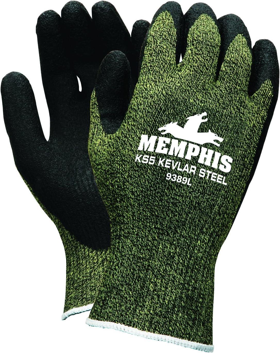 NWW09CUT 5 Pair Warrior Black PU Coated Cut D Size 10 Work Gloves