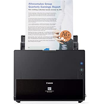 Canon ImageFORMULA DR-C225 II Office Document Scanner, Black - 3258C002