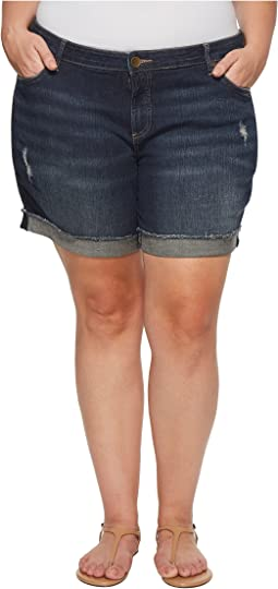KUT from the Kloth - Plus Size Boyfriend Shorts in Triumph