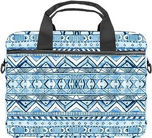 KEAKIA Computer Bag Laptop Bag 13.4-14.5 Inch Geometric Pattern in Aztec Style Computer Case Laptop Shoulder Bag Laptop Sleeve for Women and Men
