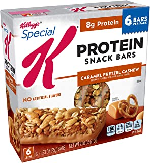 Special K Protein Snack Bars, Caramel Pretzel Cashew, 7.38 oz (6 Count)(Pack of 8)
