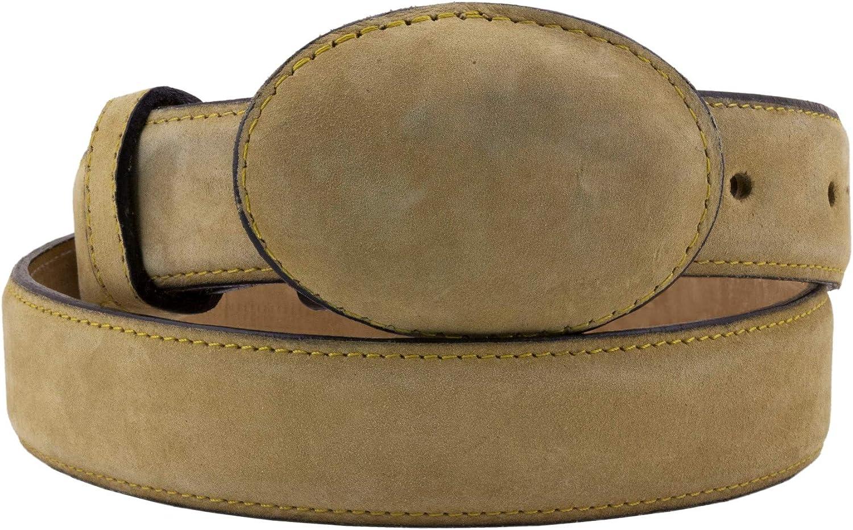 El Presidente - Kid's Toddler Sand Nubuck Leather Western Belt Round Buckle 26