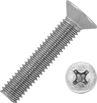 10 St/ück metrisch A2 Edelstahl M4 x 25 mm Senkkopfschrauben