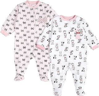 Pekkle Baby 2-Pack Footed Pajamas, Snap, Sleep & Play Onesie Unisex Sleepers (3m - 6m - 9m)