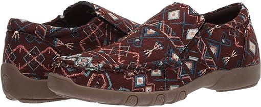 Brown Aztec Stripe Fabric