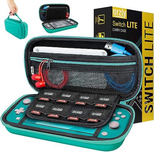 Orzly Etui pour Nintendo Switch Lite, Deluxe Housse Rigide de Rangement Zippée en Matériau Durable Anti-Choc pour la ...