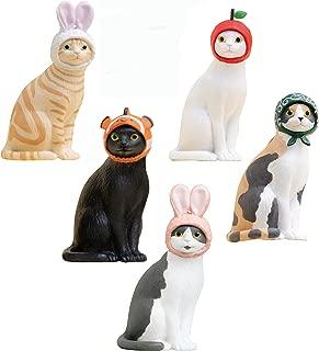 Kitan Club Cat Cap Figure Blind Box Includes 1 of 5 Collectible Figurines - Fun, Versatile Decoration - Authentic Japanese Design