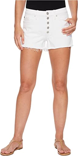 Hudson - Zoeey High-Rise Button Cut Off Shorts in White
