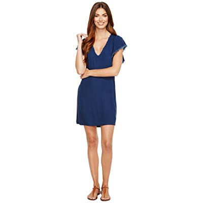 Splendid Ruffle Dress (Dark Wash) Women