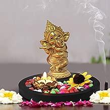 Tied Ribbons Golden Ganesha Playing Bansuri Ganesh Idol For Gift | Diwali Gift Set | Home Decor Murti
