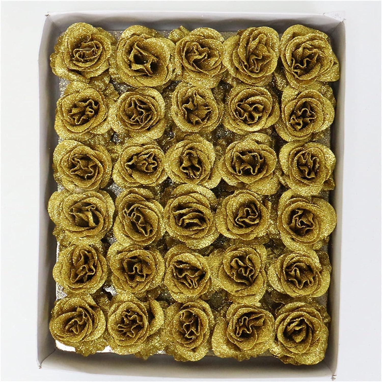 Fake Flower 30 Heads Gold Powder Rose Artificial Blue Head Silk Trust Ranking TOP6