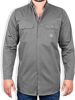 8.1 oz FR Shirt for Men - Fire Resistant Shirt - Work Shirt - Welding Shirt 2XL, Grey Fire Retardant Shirt - FR Clothing for Welders & Electricians