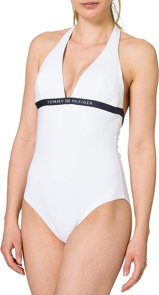 Tommy hilfiger one-piece halter costume da bagno intero per donna poliestere riciclato (85%) elastan (15%) UW0UW02711A